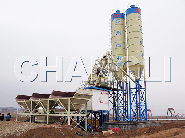 HZS75 concrete batching plant price