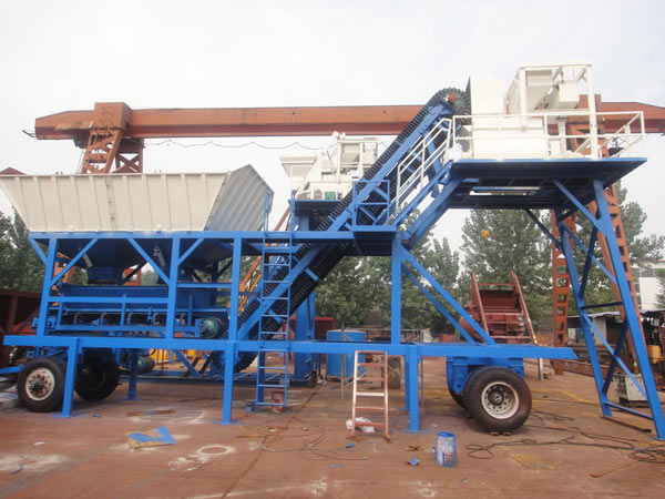 Mini Concrete Batch Plant Cube : Yhzs mini mobile concrete batching plant