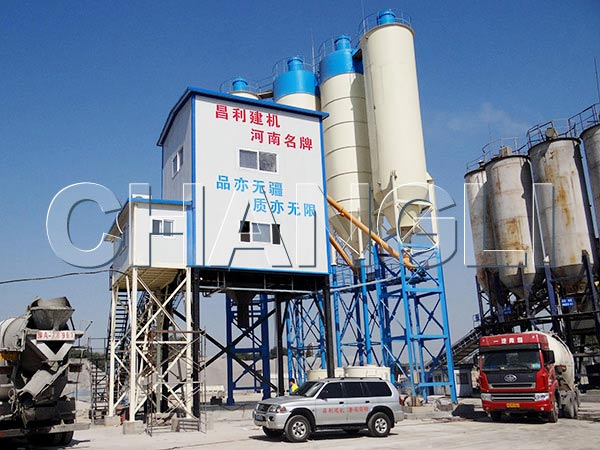 changli HZS120 central mix concrete plant