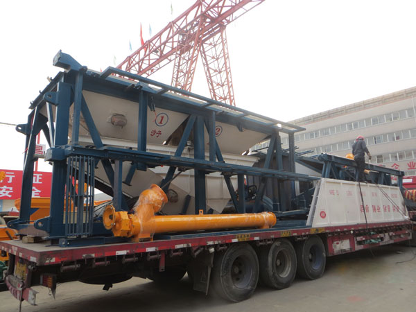 concrete mixing plant delivery