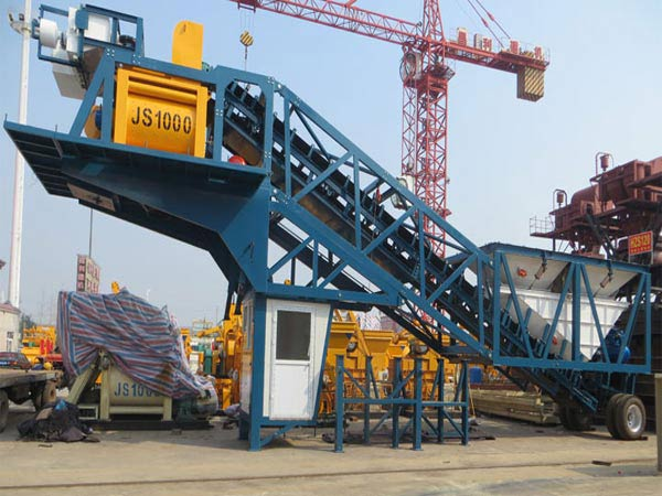 Mini Batching Plant : Yhzs mini mobile concrete batching plant