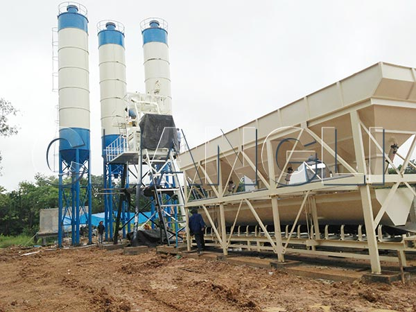 Mini Concrete Batch Plant Cube : The basic components of commercial concrete batching plant