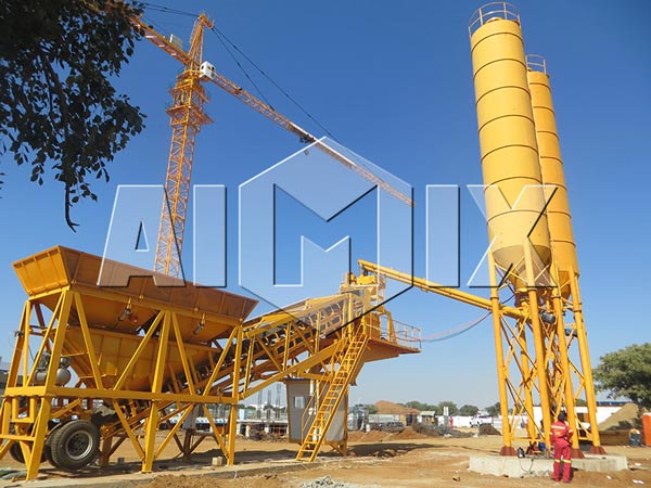 yhzs mobile concrete batch plant for sale-delivery