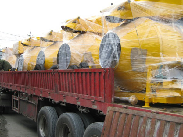 concrete mixer diesel engine delivery