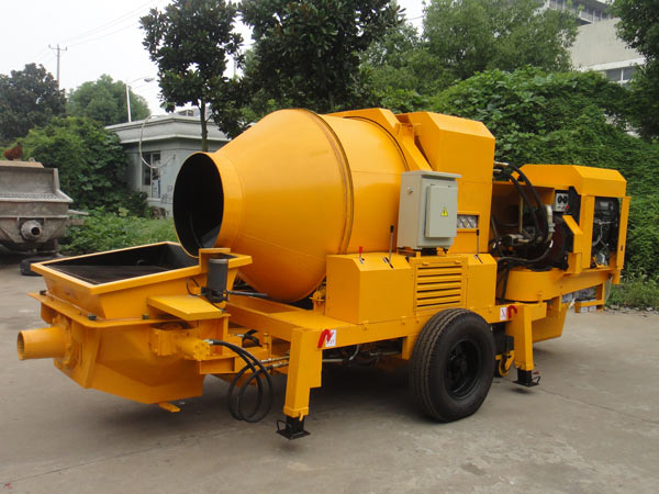 diesel concrete mixer with pump price