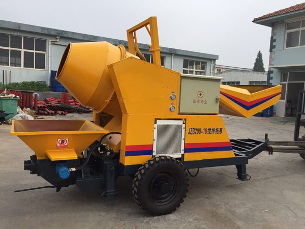JBS10 mini concrete mixer with pump