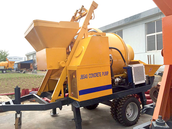 JBS40 electric concrete mixer with pump