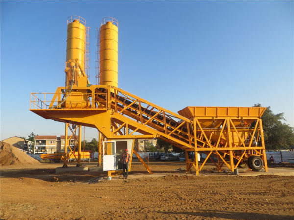 concrete batching plant machine