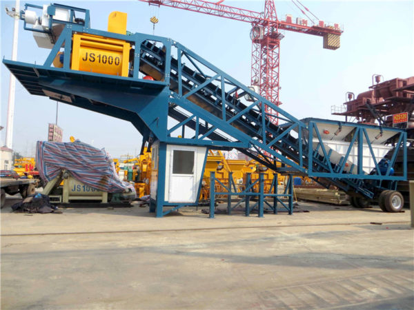 mobile cement mixing plant