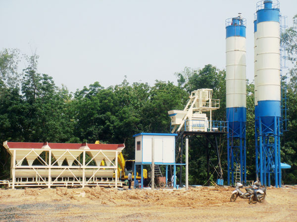 stationary concrete batch mix plant for sale