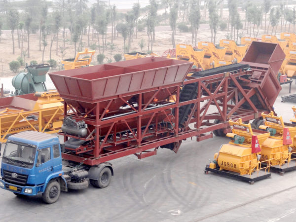 AJY-75 mobile concrete batching plant