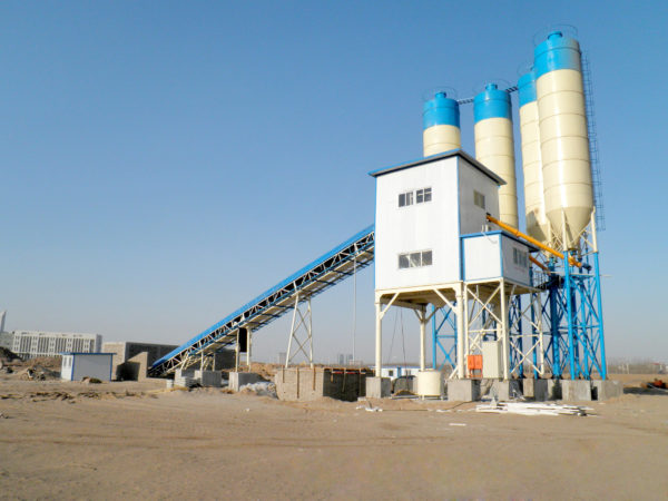 stationary concrete batch plant