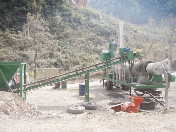 portable batch mix asphalt plant