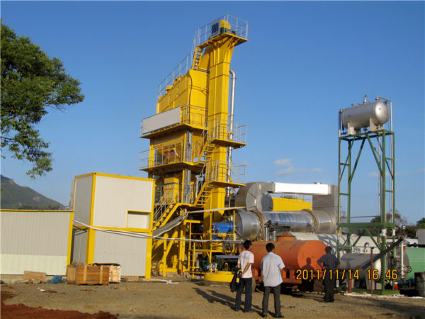 stationary type asphalt mixing plant