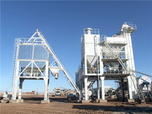 stationary asphalt mixing plant
