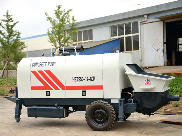 concrete pumping trailer machine