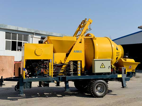 JB40R concrete mixer with pump