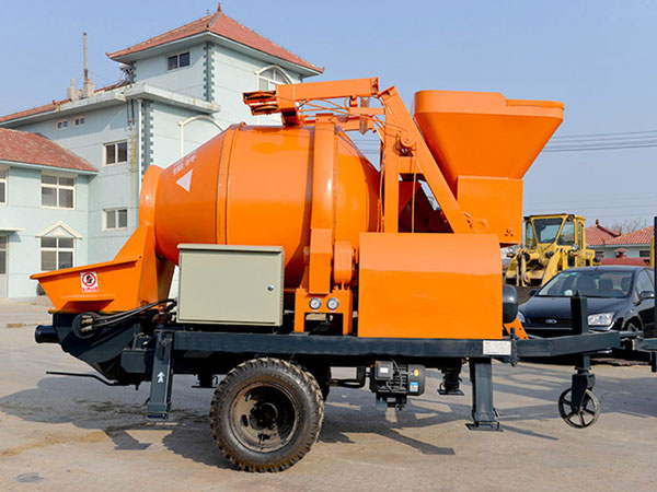 small concrete mixer pump